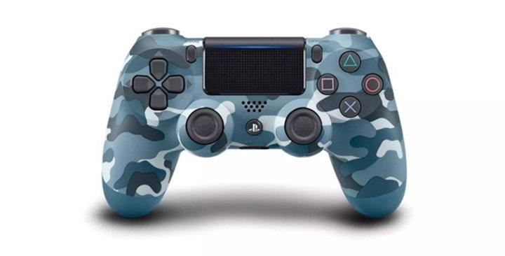PS4 Dualshock Joypad Wireless Controller, Farbe: Camoflage Blue, Gebraucht