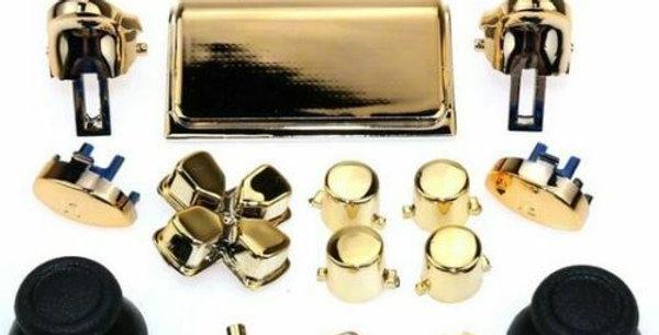 Tasten-Set in Chrom goldfarben  für Playstation 4 Controller JDM-040 - 055