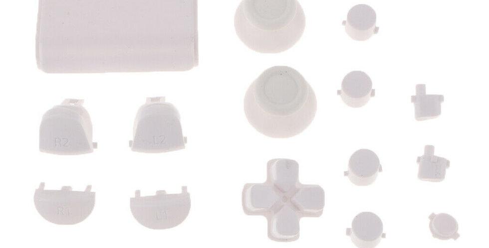 Tasten-Set in matt weiß für Playstation 4 Controller JDM-0