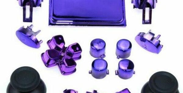 Tasten-Set in Chrom Violett für Playstation 4 Controller JDM-0