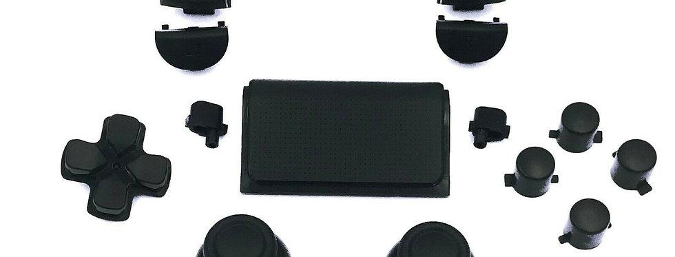 Tasten-Set in matt Schwarz für Playstation 4 Controller JDM-0