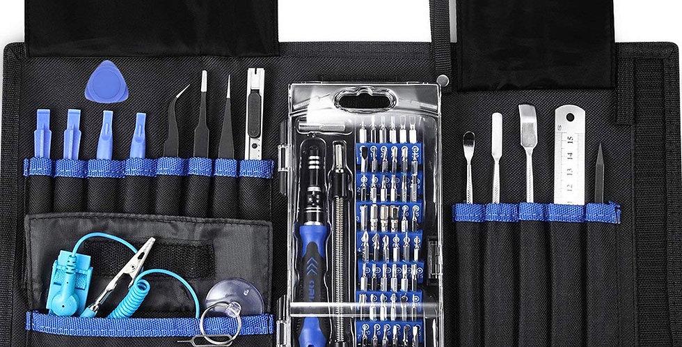 76 in 1 Schraubendreher Set Magnetic Austauschbar Magnetverschluss Hardware Werkzeugset Reparatur für Kit Pro Tech Toolkit iP