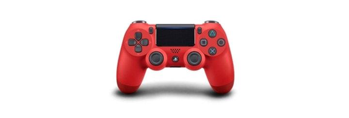 PS4 Dualshock Joypad Wireless Controller, Farbe: Rot, Gebraucht