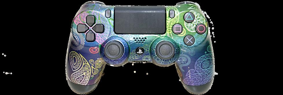 PS4 Custom Controller Pro 2.0 - Purpel Vintage Skull für Sony Playstation 4