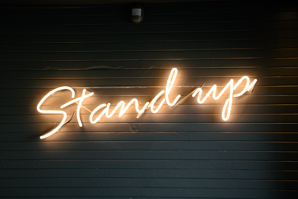 First day of holiday wellness - stand up
