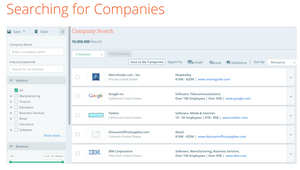 Searching for Companies