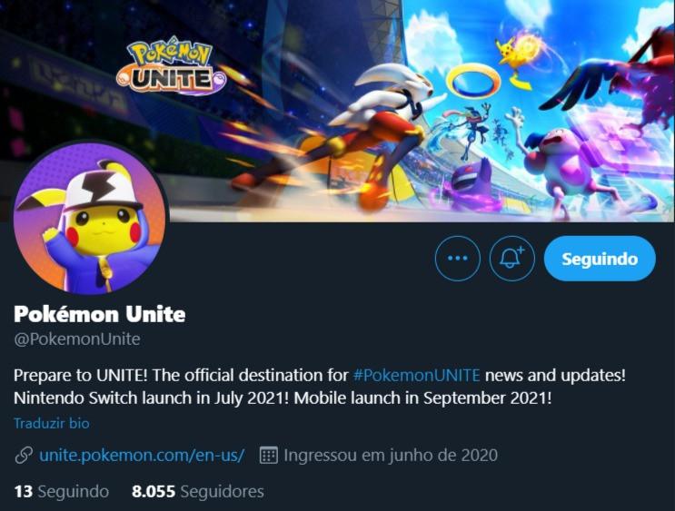 pokemon unite twitter site oficial
