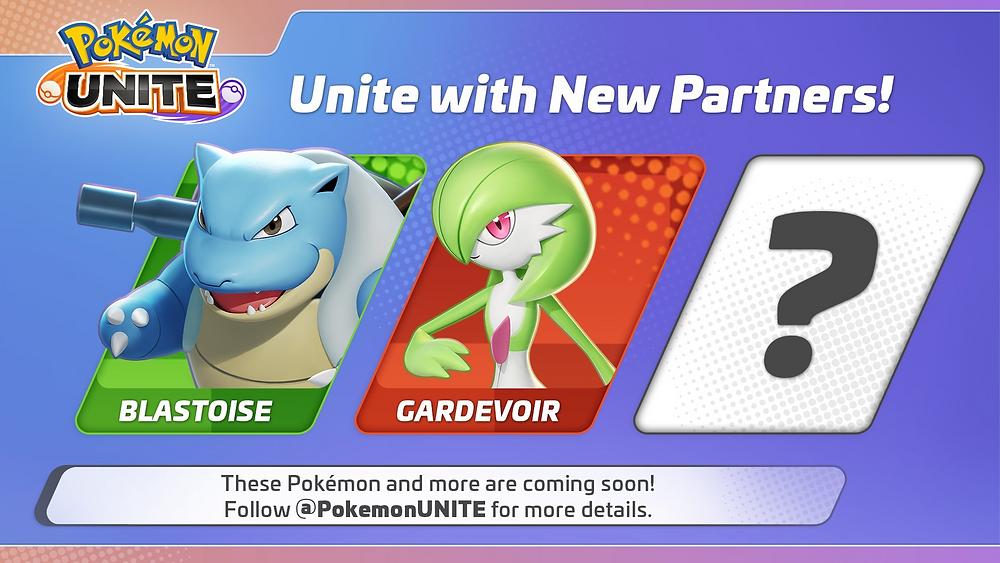 pokemon unite gardevoir blastoise novos jogáveis