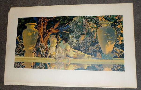 1918 Maxfield Parrish Print The Garden Of Allah