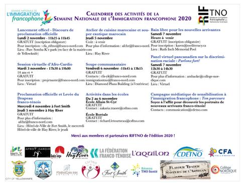 La Semaine nationale de l'immigration francophone aux TNO