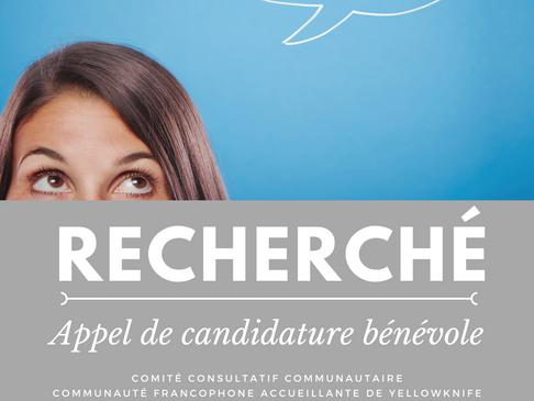 Appel de candidatures Comité Consultatif Communauté francophone accueillante de Yellowknife