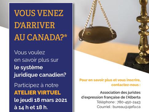 Webinaire: introduction au système juridique canadien