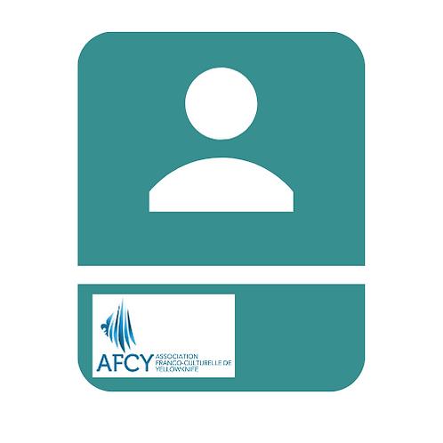 Carte de membre individuel de l'AFCY