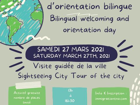 Journée d'accueil et d'orientation bilingue - Bilingual welcoming and orientation day