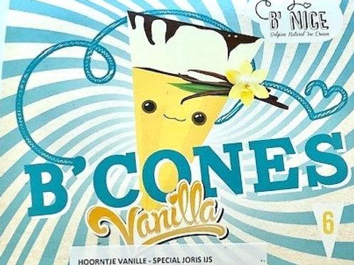 Cornet vanille met nootjes en chocolade - 6 st