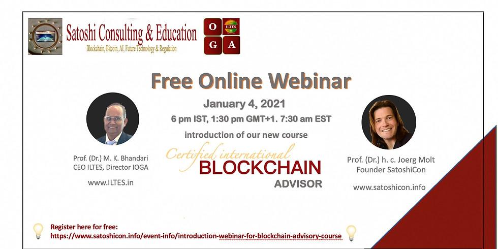 Introduction Webinar for Blockchain Advisory Course