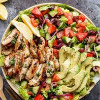 Lemon Herb Mediterranean Chicken Salad