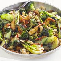V* Tofu, Greens & Cashew Stir Fry -