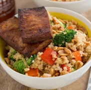 V* Peanutty Quinoa Bowl with Tofu