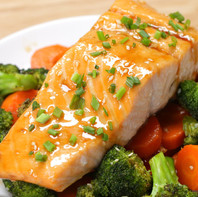 Baked Salmon and Veg