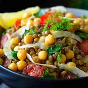 V* Bean & Lentil Salad