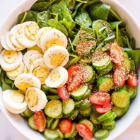 V* Spinach Salad with boiled eggs