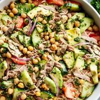 Tuna Chickpea Avocado Salad