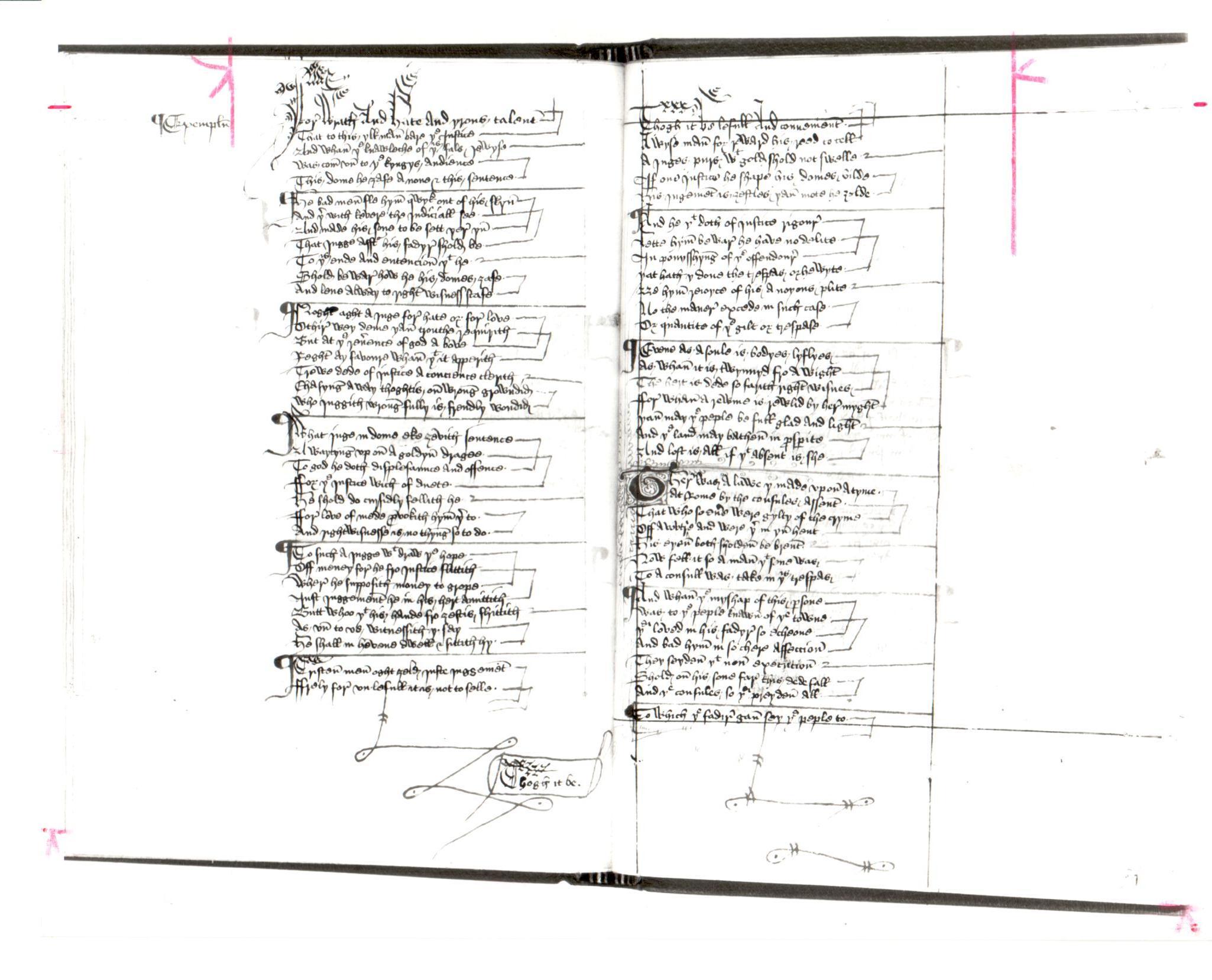 49. Beinecke MS 493, ff. 97v-98r
