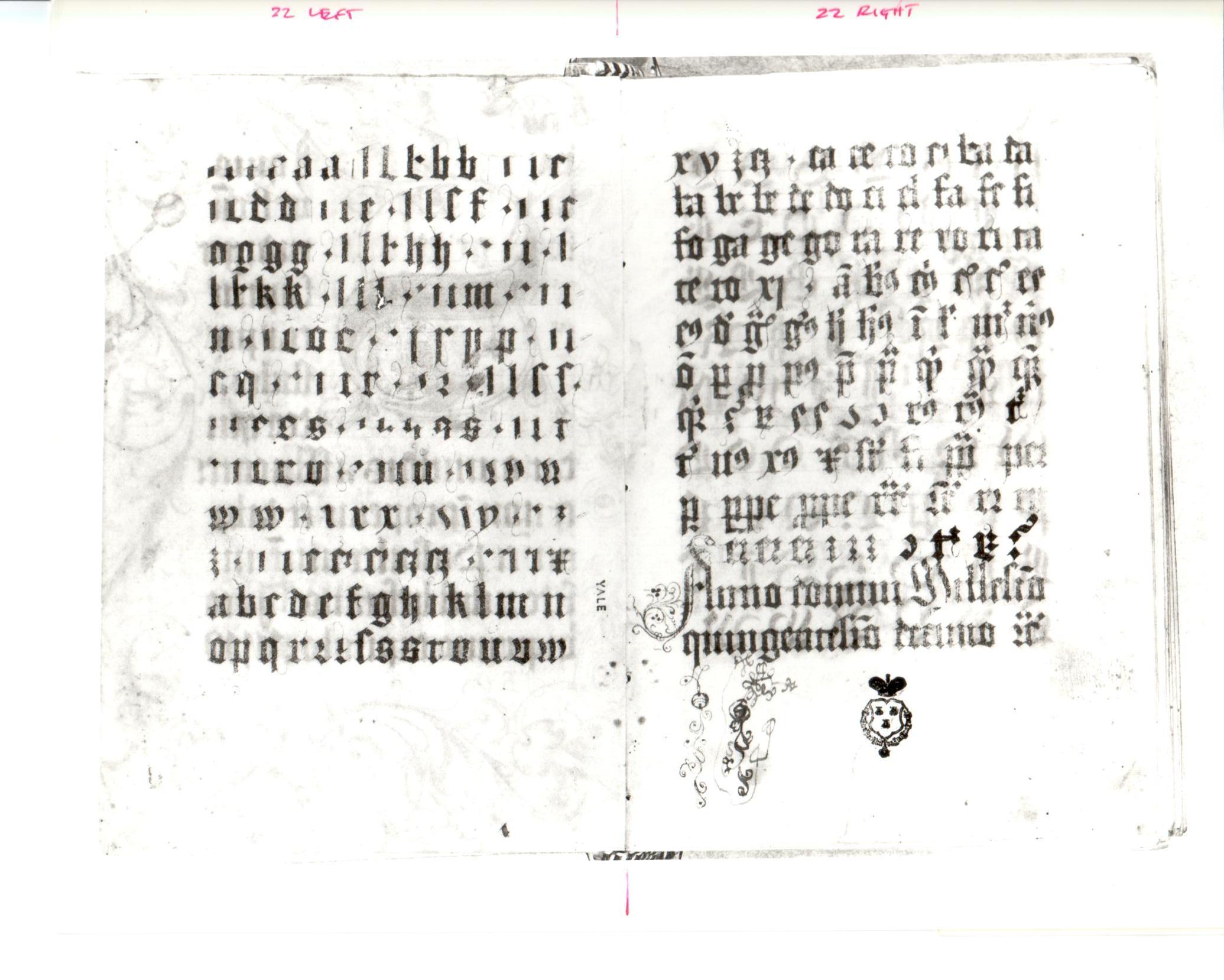 22. Beinecke MS 439, ff. 1v-2r