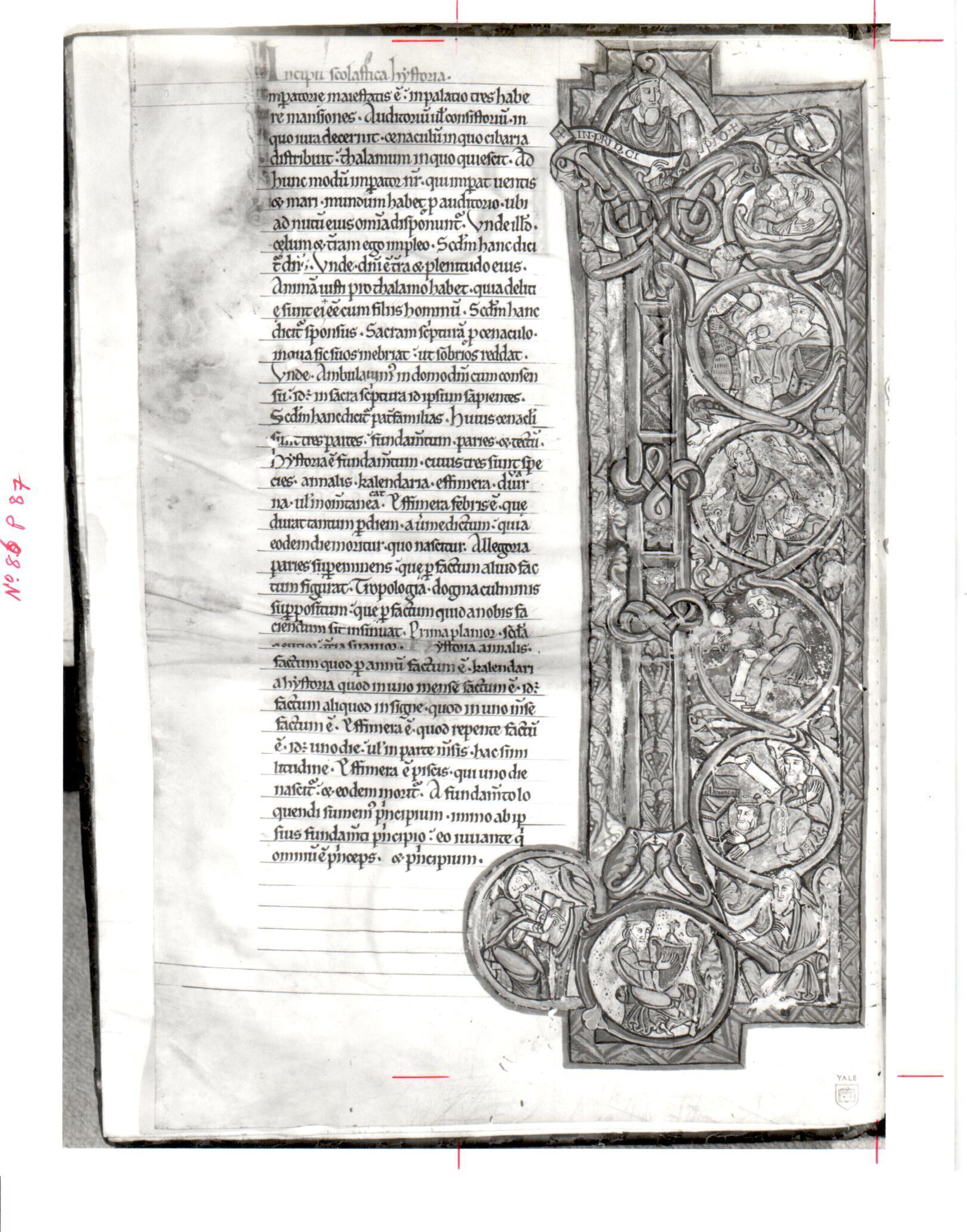 86. Beinecke MS 674, f. 1v