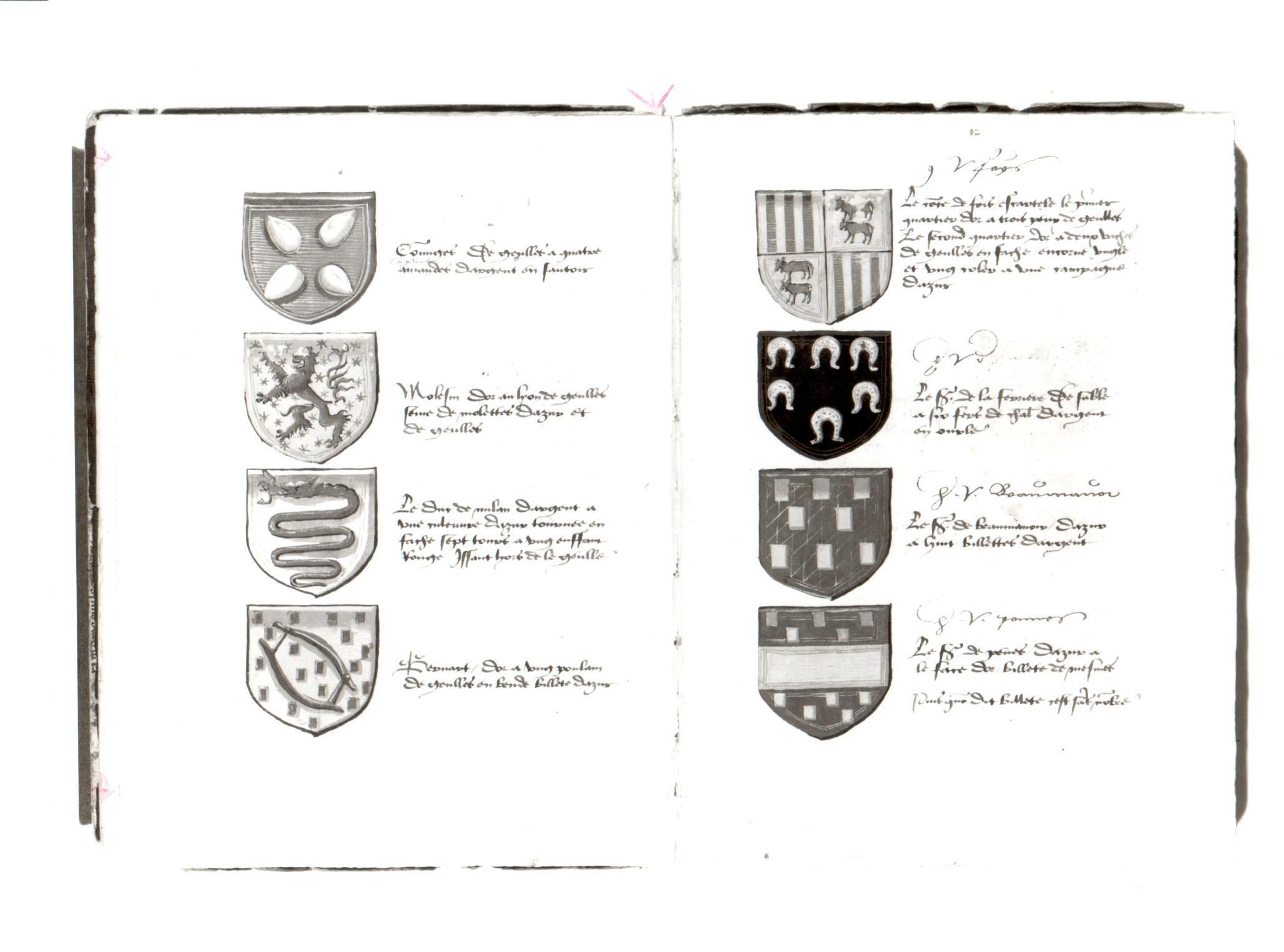 96. Beinecke MS 648, ff. 11v-12r.