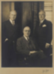 "Left to right: Edwin J. Beinecke, Yale 1907 (1886-1970), Frederick W. ""Fritz"" Beinecke, Yale 1909S (1887-1971), and Walter Beinecke, Yale 1910 (1888-1958)."