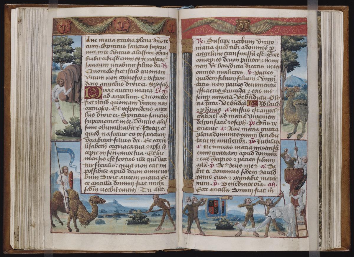 45 Beinecke MS 436 ff. 53v-54r color