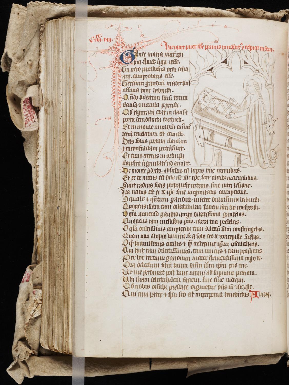 12. Beinecke MS 27, f. 88v (color)
