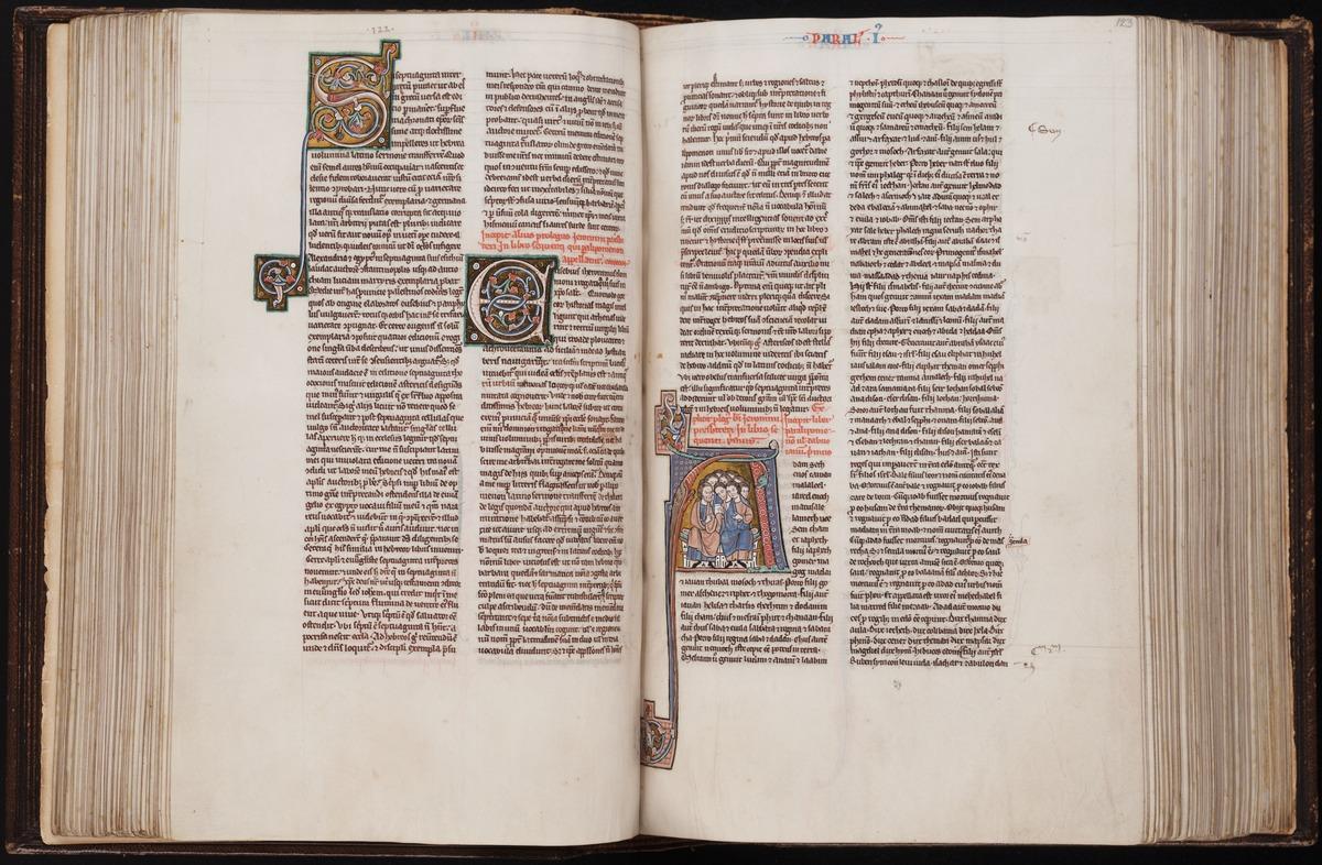42 Beinecke MS 387 f 122v-123r color