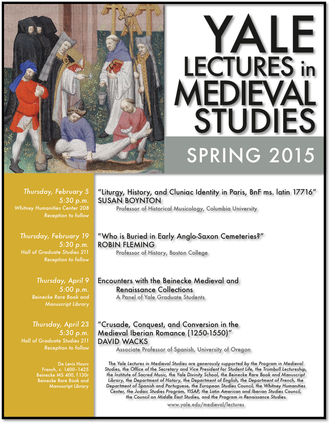 Yale Lectures in Medieval Studies