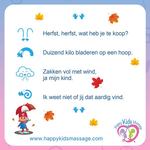 14 massagekaartjes herfst/winter
