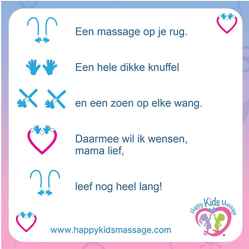 12 massagekaartjes:  lente