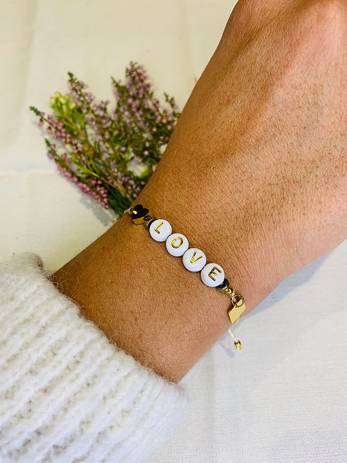 Bracelet Alphabet Fil Dore