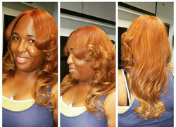 CROWNED HAIR EXTENSIONS AND COLOR