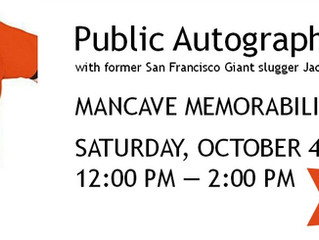 "Public Autograph Signing | SF Giants Jack ""The Ripper"" Clark"