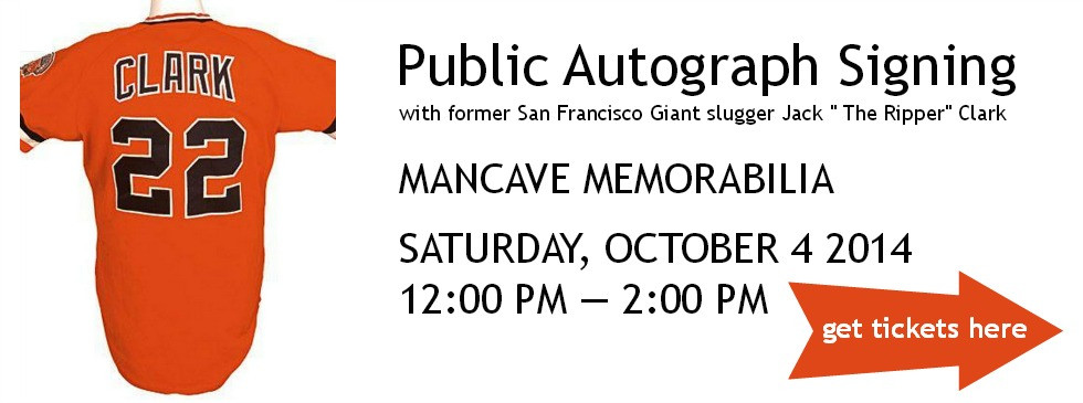 Jack Clark Public Autograph Signing Tickets in San Carlos, CA, United States3.jp