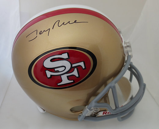 Jerry Rice Autographed Full Size Helmet 49ers MCM