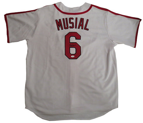 Stan Musial Autographed Cardinals Jersey JSA Authe
