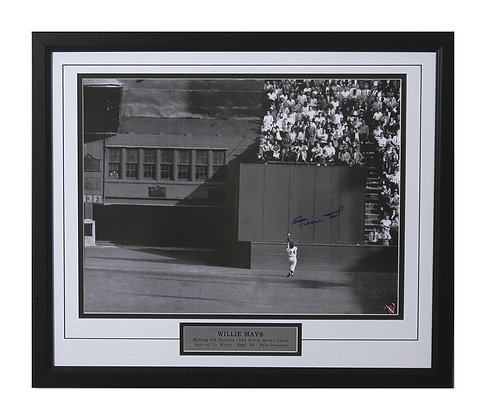 Willie Mays Autographed & Framed 16x20 Mays Authen