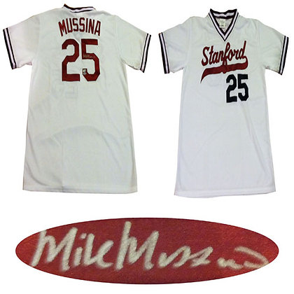 Mike Musina Autographed Stanford Jersey Steiner Au