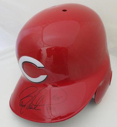 Barry Larkin Autographed Full Size Helmet MCM Auth
