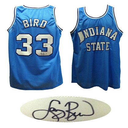 Larry Bird Indiana State Basketball Autographed Je