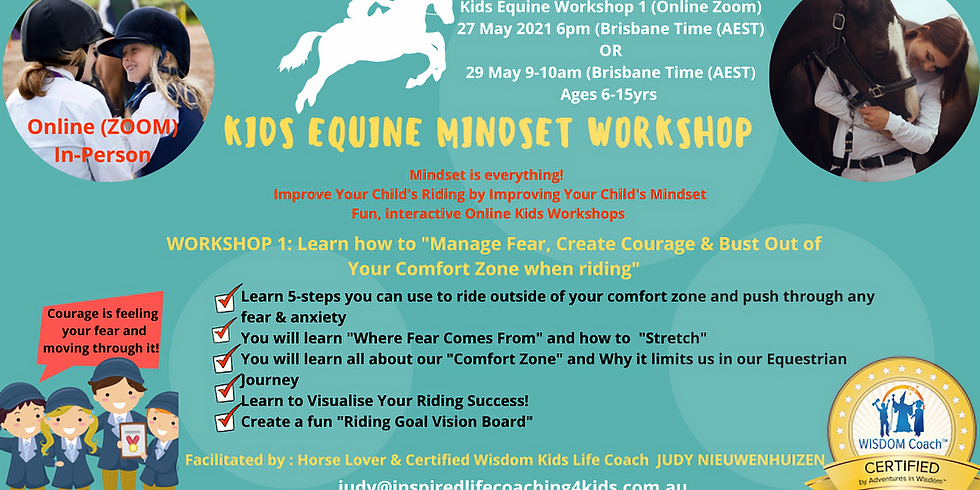 Kids Equine Mindset Workshop (Group Online/Zoom)