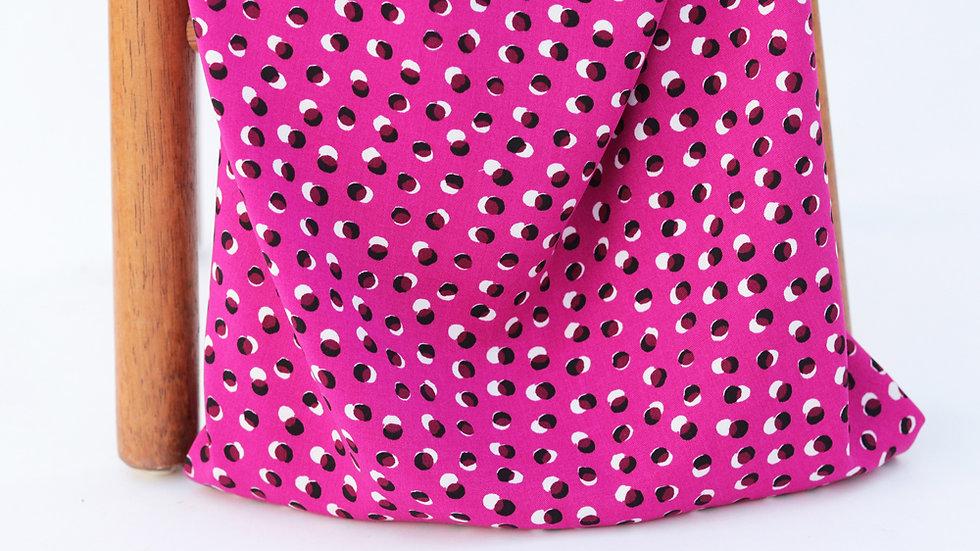 Vangogh Twill Double Dots Fuchsia
